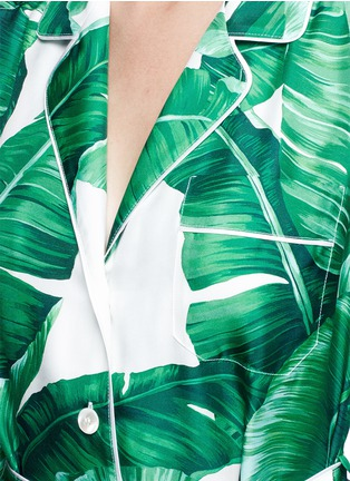Detail View - Click To Enlarge - Dolce & Gabbana - Banana leaf print silk twill maxi dress