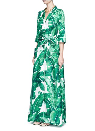 Figure View - Click To Enlarge - Dolce & Gabbana - Banana leaf print silk twill maxi dress