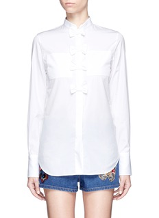 Valentino Bow cotton poplin shirt