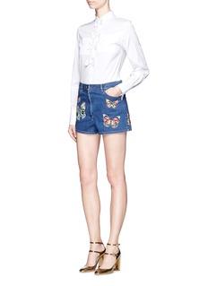 ValentinoBow cotton poplin shirt