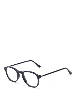 Figure View - Click To Enlarge - SUPER - 'Numero 02 Zaffre' acetate optical glasses