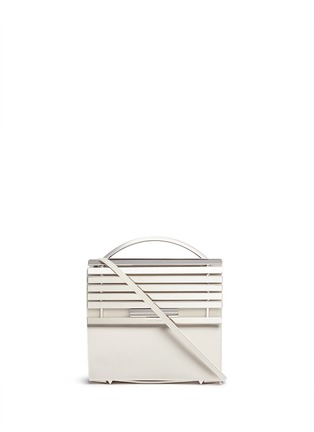 Main View - Click To Enlarge - Eddie Borgo - 'Colt' aluminium bar flap leather crossbody
