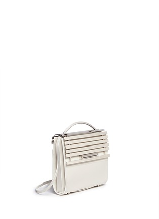 Figure View - Click To Enlarge - Eddie Borgo - 'Colt' aluminium bar flap leather crossbody