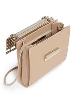 'Colt' aluminium bar flap leather crossbody