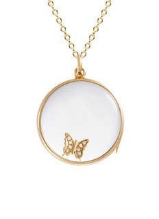 Loquet London Diamond 14k yellow gold 'Butterfly' charm – Beauty
