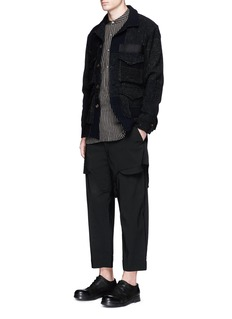 Ziggy ChenShorts overlay wool blend pants