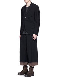 Ziggy ChenExtended lining wide leg wool blend pants