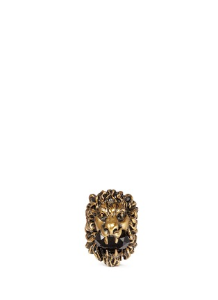 Main View - Click To Enlarge - Gucci - Lion head crystal cocktail ring