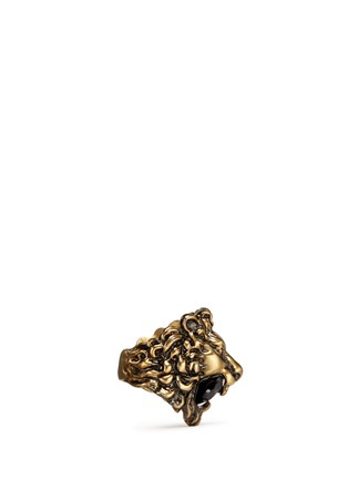 Figure View - Click To Enlarge - Gucci - Lion head crystal cocktail ring