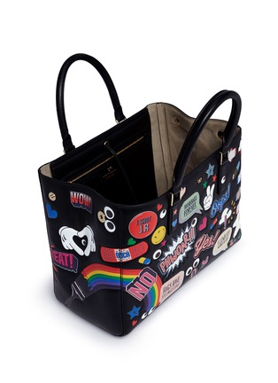 Detail View - Click To Enlarge - Anya Hindmarch - 'All Over Stickers Small Featherweight Ebury' leather tote