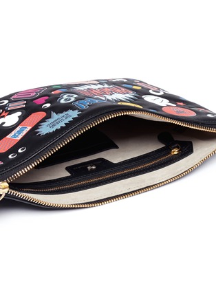 Detail View - Click To Enlarge - Anya Hindmarch - 'All Over Georgiana' embossed leather tassel clutch