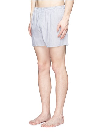 Figure View - Click To Enlarge - Sunspel - 'Classic' pinstripe cotton boxer shorts