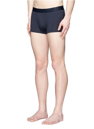 Figure View - Click To Enlarge - Sunspel - Stretch cotton low waist trunks
