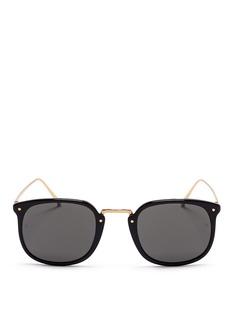 LINDA FARROWWire rim acetate sunglasses