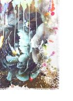 'Danao' floral paint print silk-modal scarf