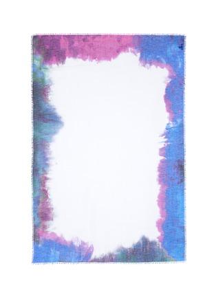 Main View - Click To Enlarge - Franco Ferrari - 'Rieti' watercolour effect border modal-linen-silk scarf