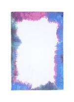 'Rieti' watercolour effect border modal-linen-silk scarf