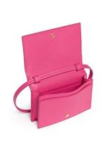 'Feline' leather crossbody purse