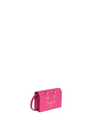 Charlotte Olympia-'Feline' leather crossbody purse