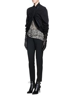 HAIDER ACKERMANNVelvet trim knit panel ruched front jacket