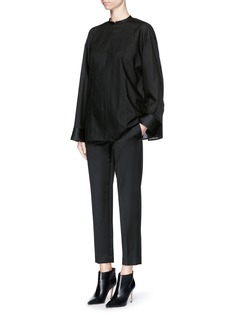 THE ROW 'Blake' virgin wool sateen cropped pants