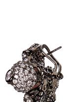 Black Blossom' pearl diamond 18k black gold earrings