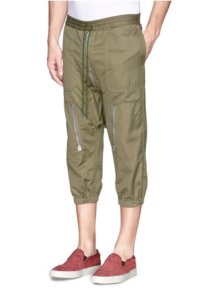 Front View - Click To Enlarge - NLST - Contoured seam cotton flight shorts