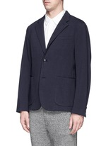 Cotton jersey knit blazer