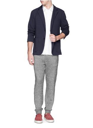 模特儿示范图 - 点击放大 - NLST - Cotton jersey knit blazer