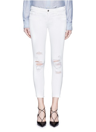 Detail View - Click To Enlarge - J Brand - 'Cropped' ripped jeans