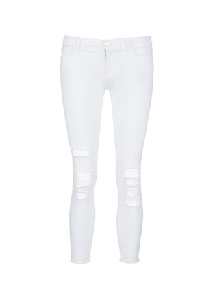 Main View - Click To Enlarge - J Brand - 'Cropped' ripped jeans