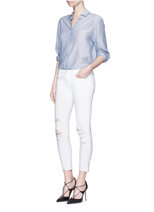 Figure View - Click To Enlarge - J Brand - 'Cropped' ripped jeans