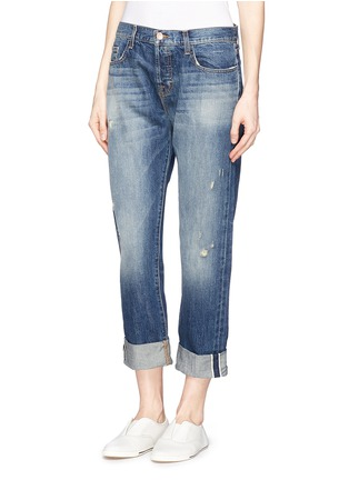Front View - Click To Enlarge - J Brand - 'Sonny' mid rise boyfriend jeans