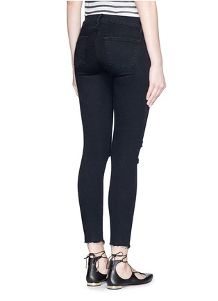 Back View - Click To Enlarge - J Brand - 'Photo Ready' ripped knee cropped skinny jeans