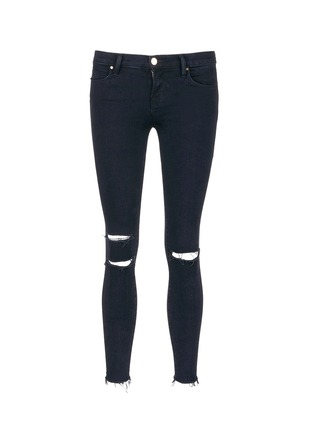 Main View - Click To Enlarge - J Brand - 'Photo Ready' ripped knee cropped skinny jeans