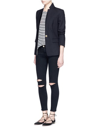 Figure View - Click To Enlarge - J Brand - 'Photo Ready' ripped knee cropped skinny jeans