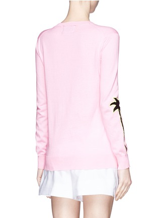 Back View - Click To Enlarge - MARKUS LUPFER - 'Sunset Boulevard' palm tree Natalie sweater
