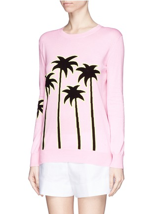 Front View - Click To Enlarge - MARKUS LUPFER - 'Sunset Boulevard' palm tree Natalie sweater