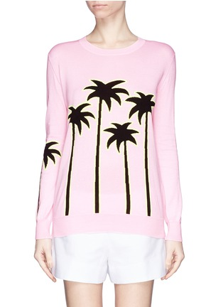 Main View - Click To Enlarge - MARKUS LUPFER - 'Sunset Boulevard' palm tree Natalie sweater