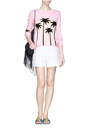 Figure View - Click To Enlarge - MARKUS LUPFER - 'Sunset Boulevard' palm tree Natalie sweater