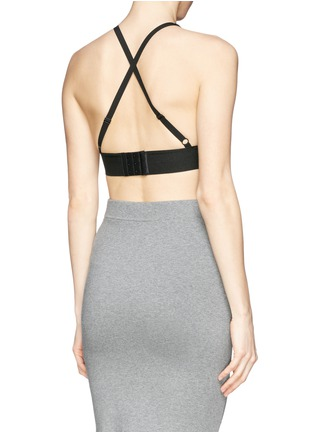 Back View - Click To Enlarge - T By Alexander Wang - Stretch piqué sports bra