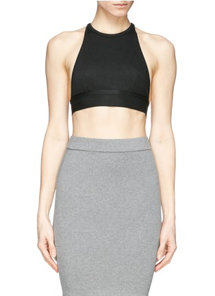 Main View - Click To Enlarge - T By Alexander Wang - Stretch piqué sports bra