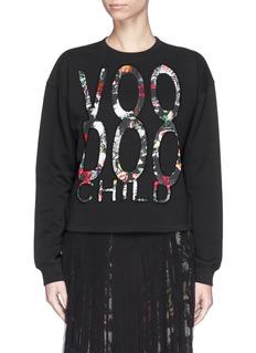MCQ ALEXANDER MCQUEENVoodoo child floral slogan sweatshirt