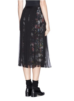 Back View - Click To Enlarge - McQ Alexander McQueen - 'Festival Floral' underlay plissé chiffon skirt
