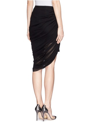 Back View - Click To Enlarge - McQ Alexander McQueen - Drape hem skirt