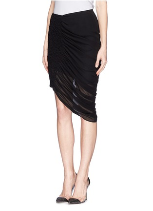 Front View - Click To Enlarge - McQ Alexander McQueen - Drape hem skirt
