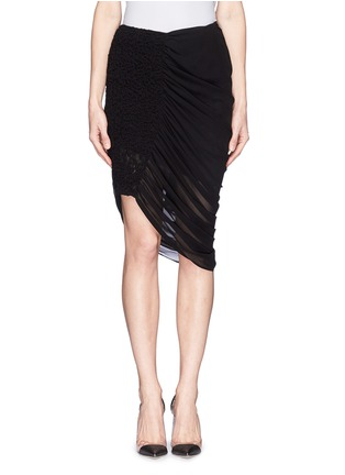 Main View - Click To Enlarge - McQ Alexander McQueen - Drape hem skirt