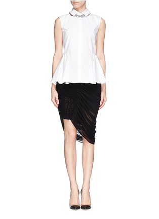 Figure View - Click To Enlarge - McQ Alexander McQueen - Drape hem skirt