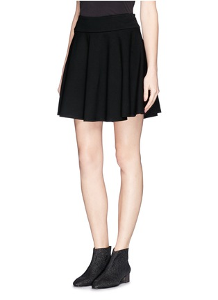 Front View - Click To Enlarge - McQ Alexander McQueen - Jersey skater skirt