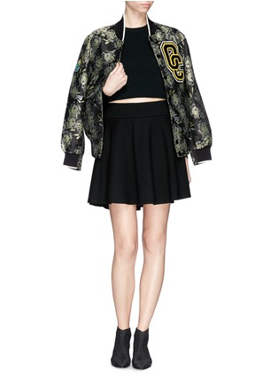 Figure View - Click To Enlarge - McQ Alexander McQueen - Jersey skater skirt